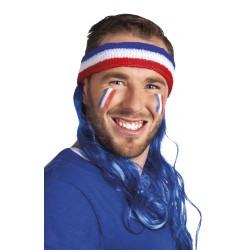 Bandeau éponge cheveux longs bleus