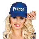 CASQUETTE FRANCE 100% BLEU