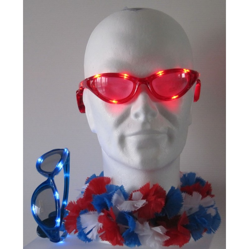lunettes led clignotantes supporter football disco fun