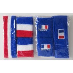 LOT EPONGE BLEU avec drapeau FRANCE
