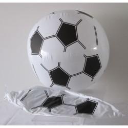 Ballon gonflable foot noir et blanc