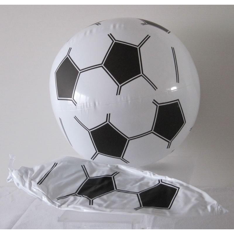 Ballon de plage foot gonflable - Ballon de foot noir et blanc ...