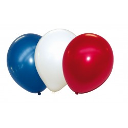 50 BALLONS BAUDRUCHES TRICOLORES